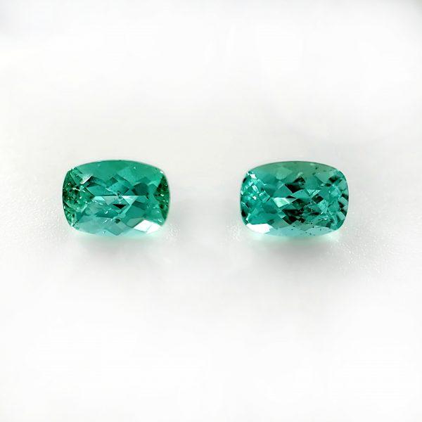 1.87 tcw. Seafoam Green Tourmaline Pair