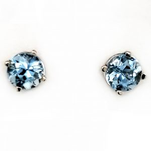 1 ct. Aquamarine 14k wg Stud Earrings