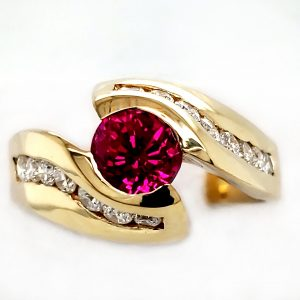 1.2 ct. Ruby and Diamond 18k Ring