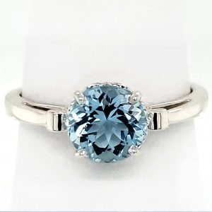 1.35 ct. Aquamarine Sterling Ring
