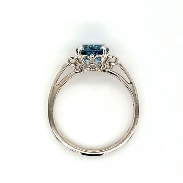 1.35 ct. Aquamarine Sterling Ring