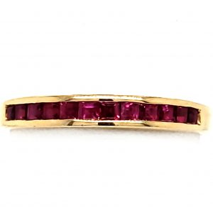 1.44 ct. Ruby 14k Band