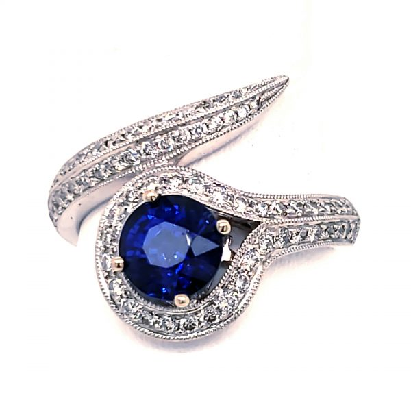 1.62 carat Blue Sapphire Ring