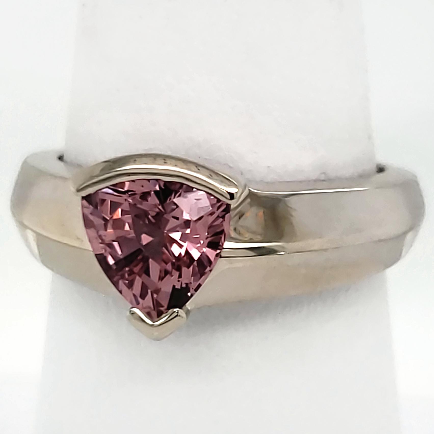 1.69 ct. Pink Garnet 14k wg Ring
