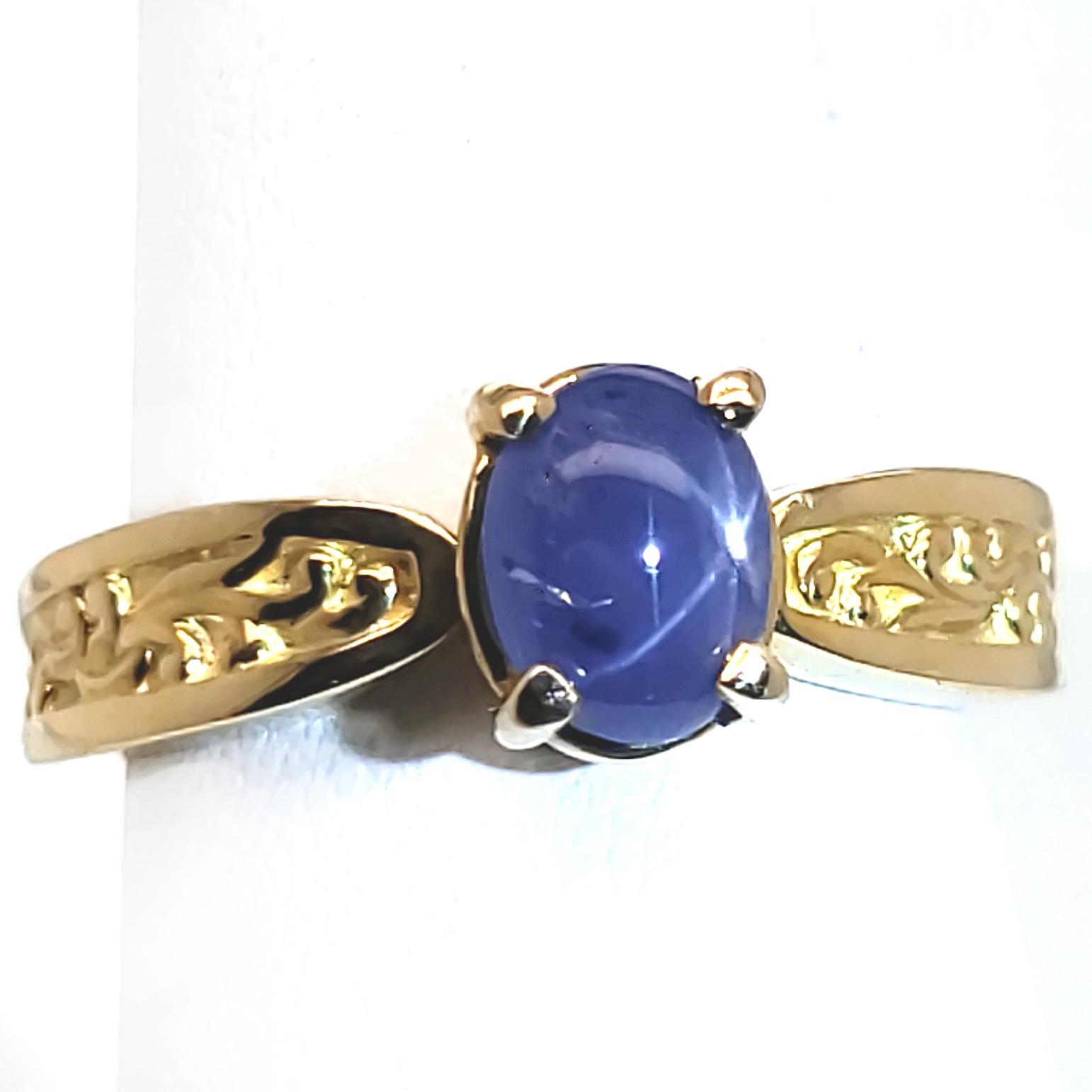 1.84 ct. Blue Star Sapphire 14k Ring