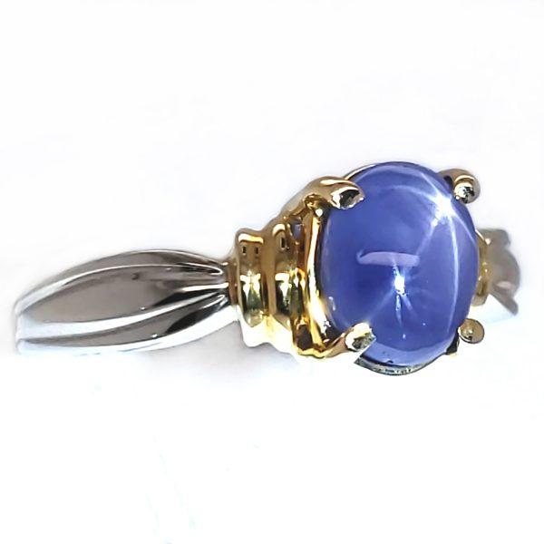 2.04 ct. Blue Star Sapphire 14k tt Ring
