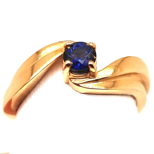 .38 ct. Blue Sapphire 14k Ring