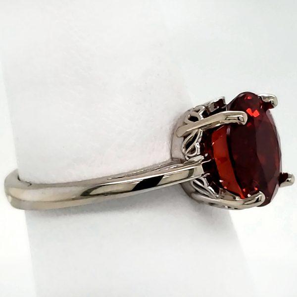 4.3 ct. Spessartite Garnet 14k wg Ring