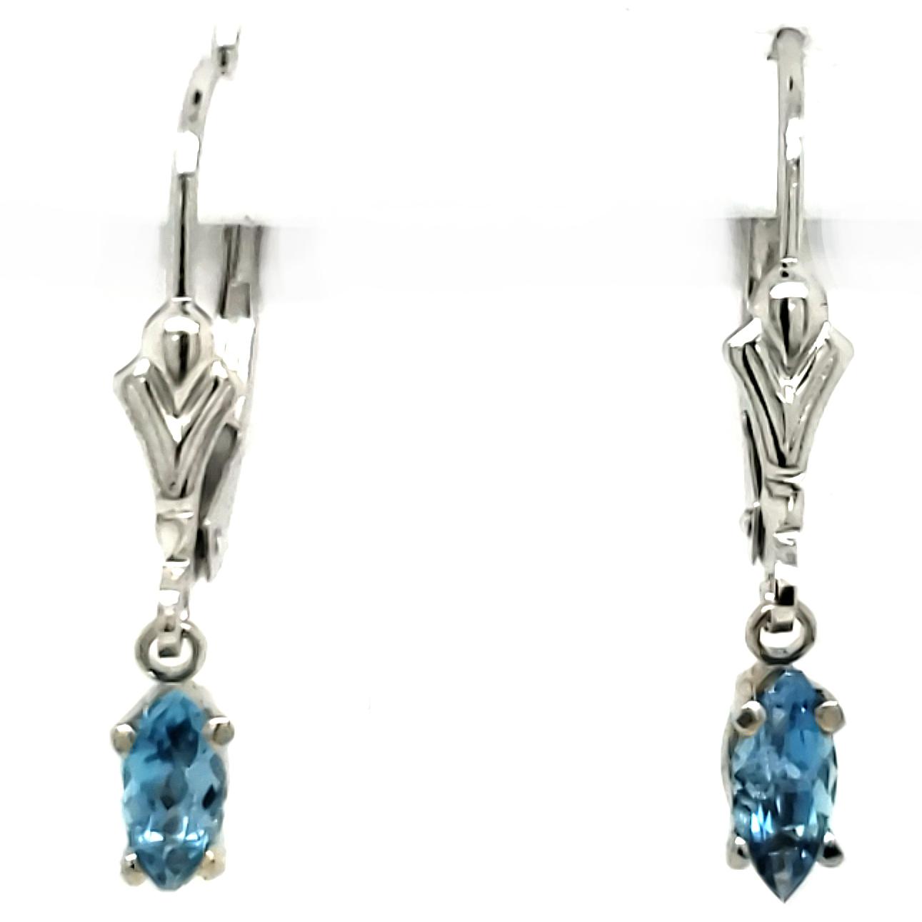 .43 ct. Aquamarine Earrings