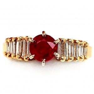 .80 ct. Ruby and Diamond Ring