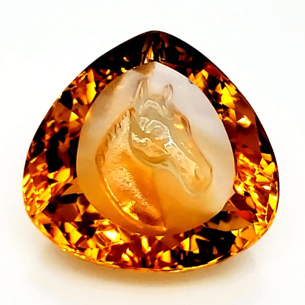 25.62 carat Carved Horse Citrine