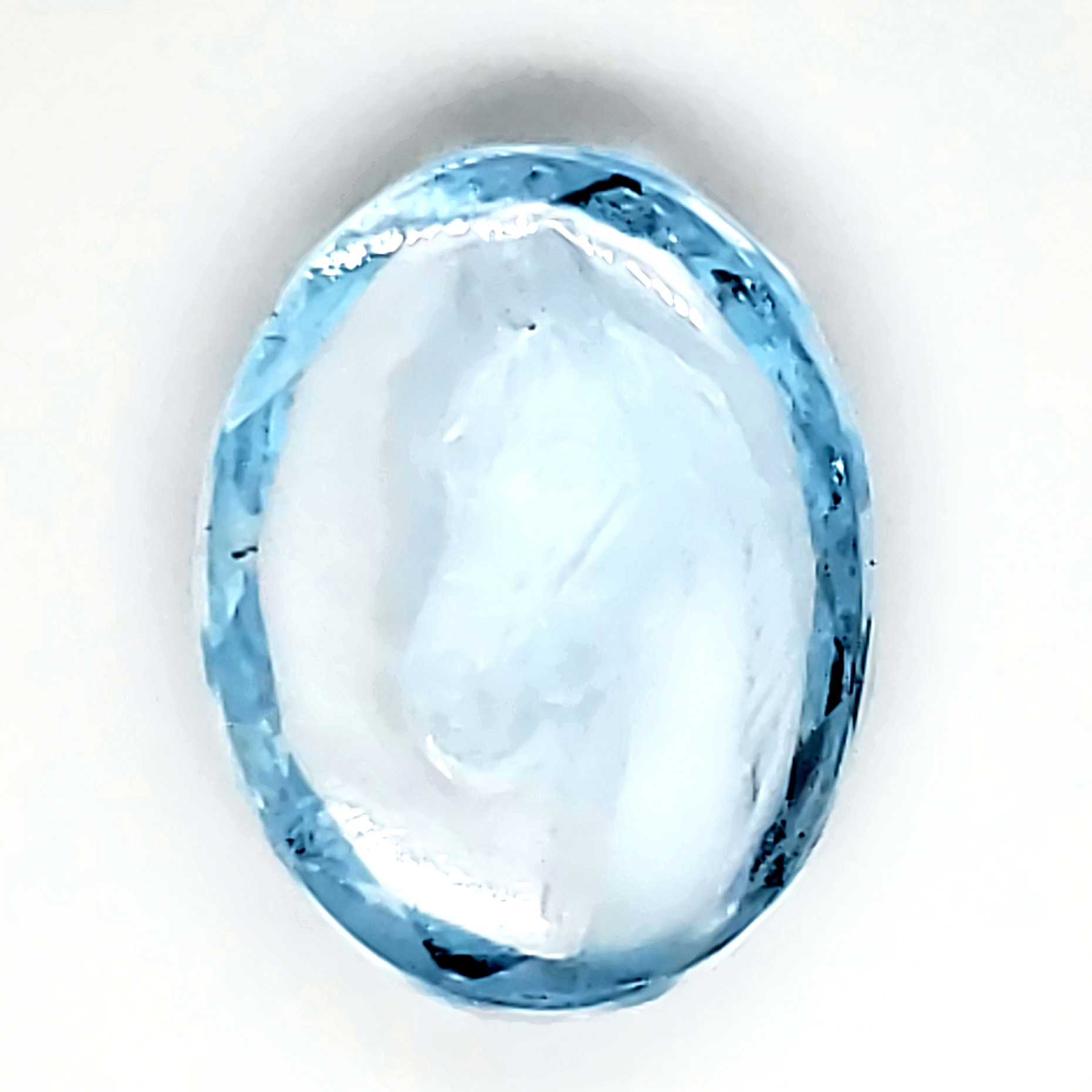 9.44 carat Carved Horse Blue Topaz