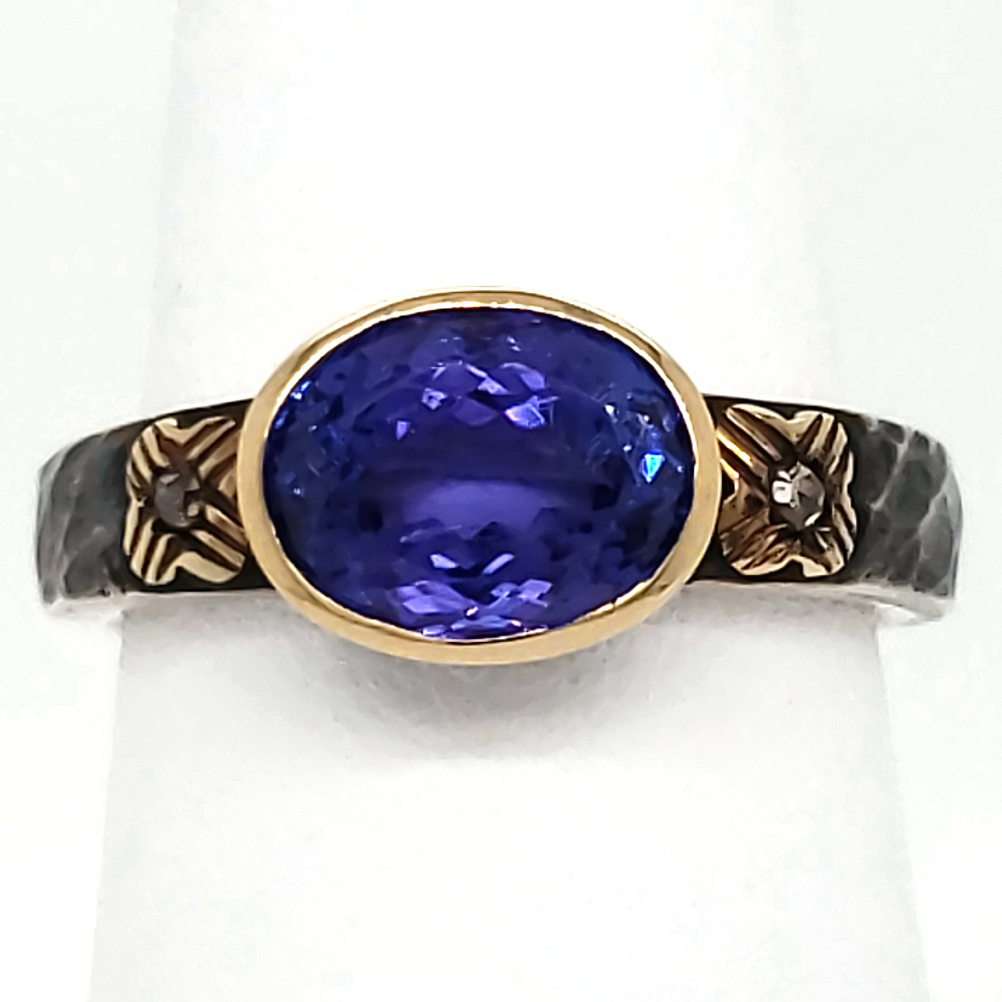 Tanzanite Sterling and 18k Ring