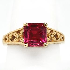 1.7 carat Rubellite Tourmaline 14k Ring