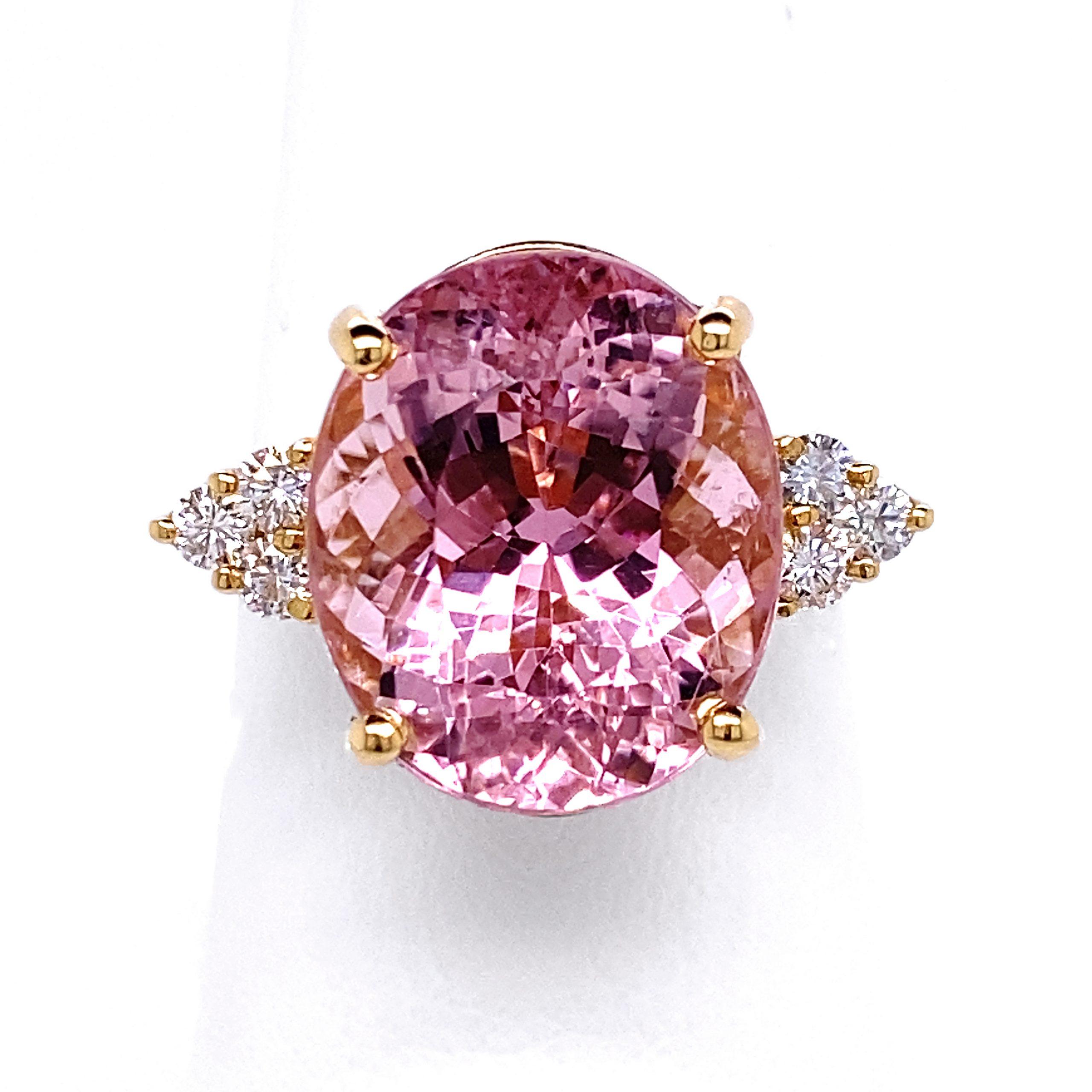 Richard Krementz Collection Pink Tourmaline Ring