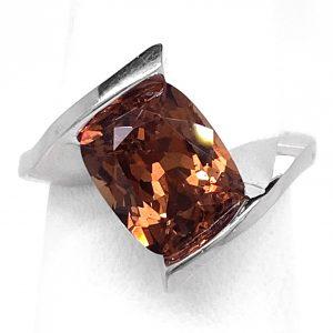 3.33 carat Garnet 14k wg Ring
