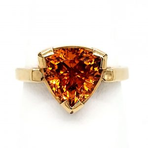 Custom 4.38 carat Spessartite Garnet Ring