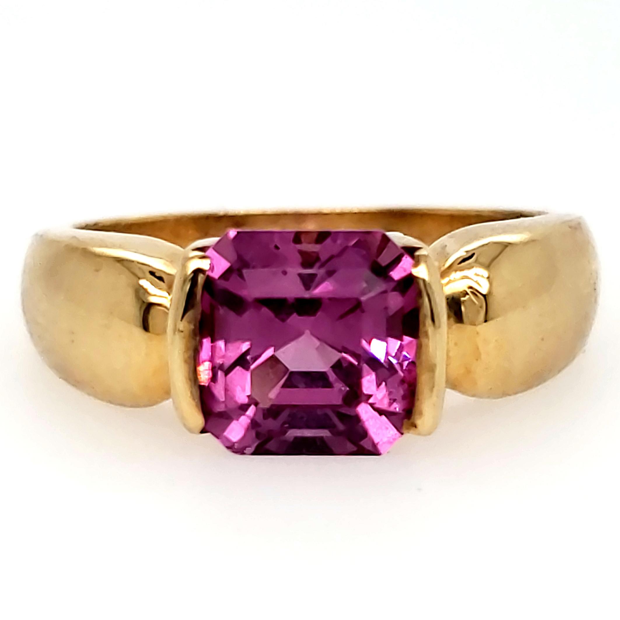 Rhodolite Garnet Solitaire Ring
