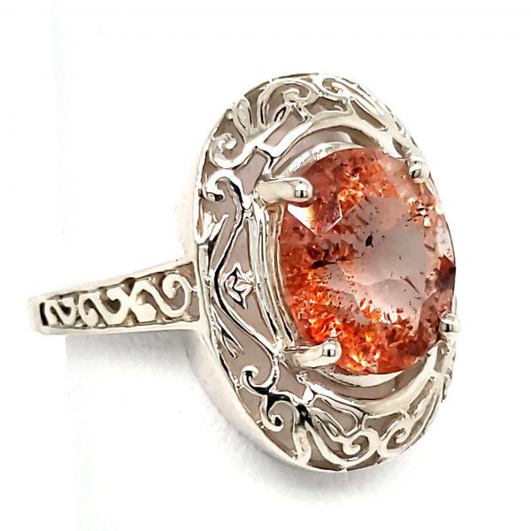 Tanzanian Sunstone Sterling Ring