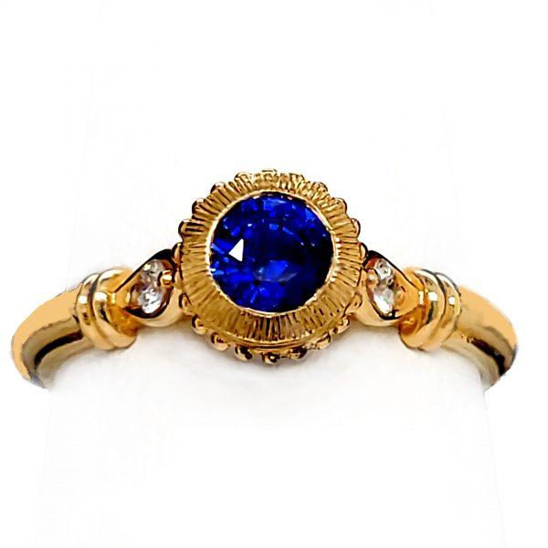 .60 carat Blue Sapphire and Diamond 14k Ring